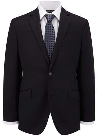Contemporary Fit Black Plain Jacket All Suits Austin Reed Austin Reed Plain Jacket Coding