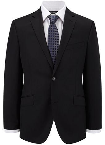 Contemporary Fit Black Plain Jacket All Suits Austin Reed Austin Reed Plain Jacket Coding