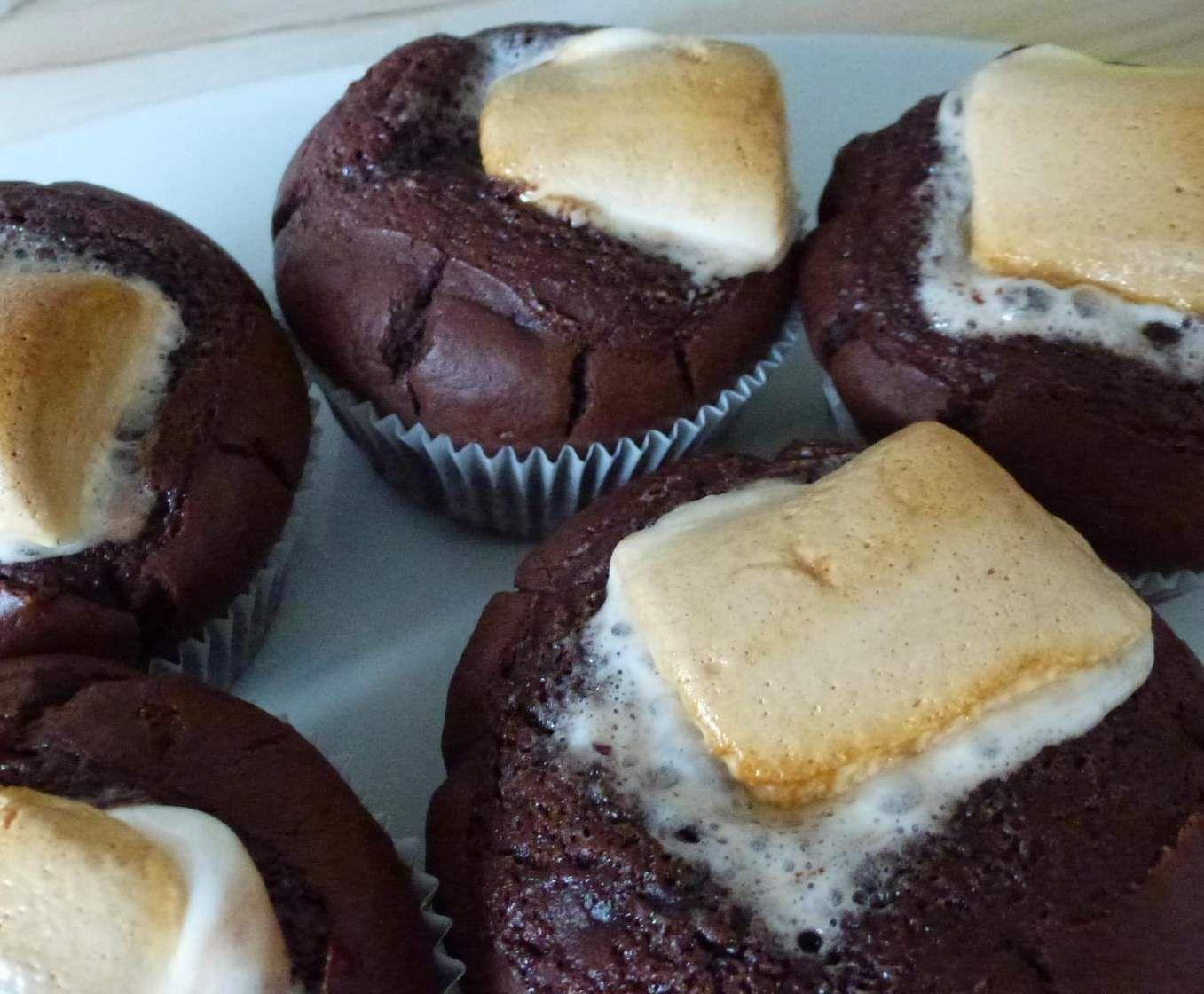 Marshmallows Schoko Muffins Mit Flussigen Kern Rezept In 2019