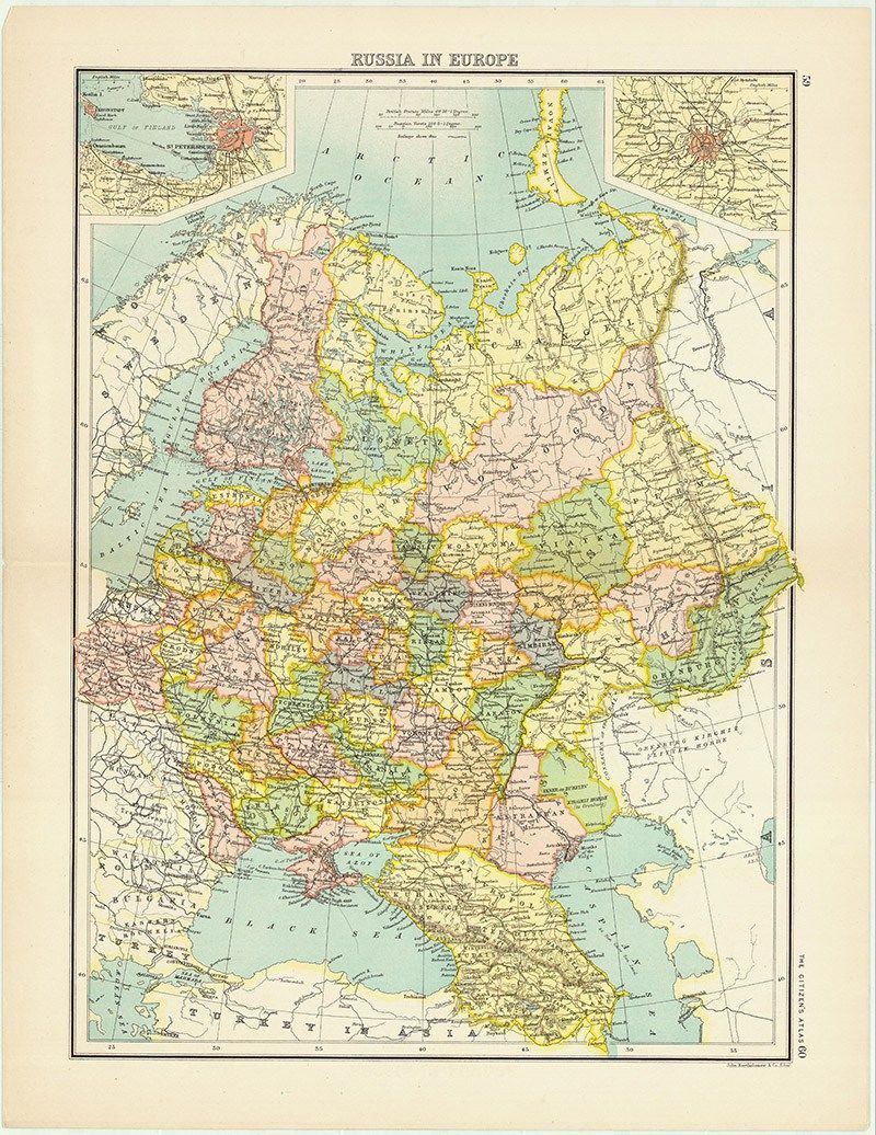 Vintage Map of Russia in Europe Batholemews | Maps | Map ... on labeled map of russia, blank physical map of russia, free printable map italy, vintage map of russia, cartoon map of russia, easy map of russia, country maps of russia, free printable map canada, free printable world map, party map of russia, fill in maps of russia, printable physical map russia, free printable russia flag, home map of russia, free printable map usa, free printable map england, religious map of russia, free printable asia map, free printable map united states, free printable map europe,