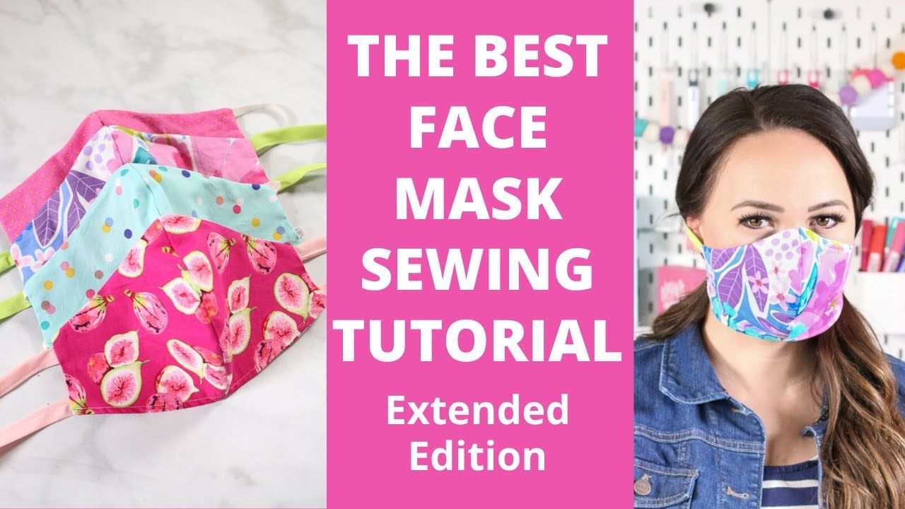 How To Sew A Fitted Fabric Face Mask For Beginners Extended