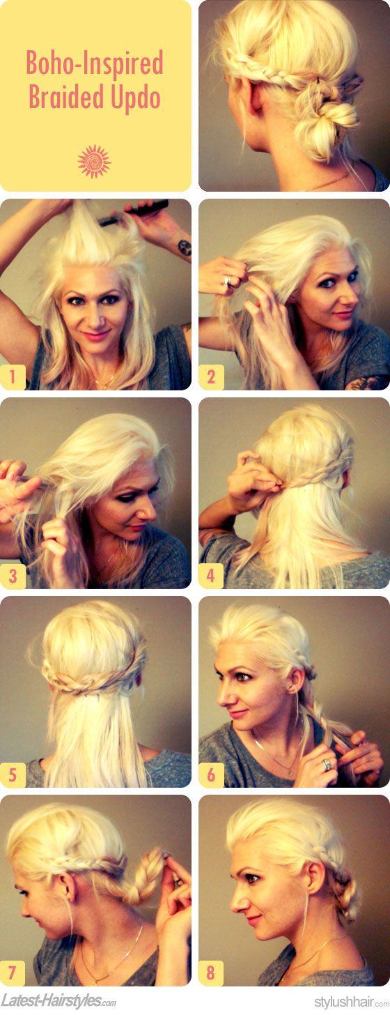 Easy hair ideas for school beauty pinterest boho updo updo