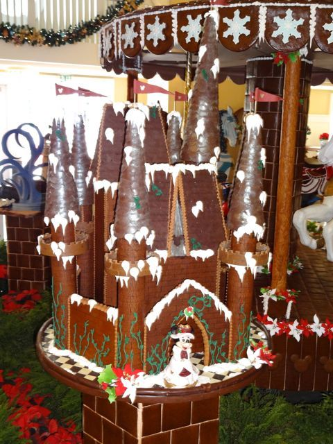 A Beautifully Detailed Gingerbread Castle Part Of The Beach Club