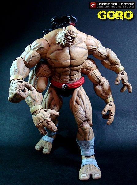 Goro Mortal Kombat Custom Action Figure Custom Action Figures