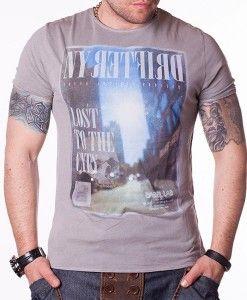 Tricou pentru barbati LABEL LAB-1 gri - 67RON