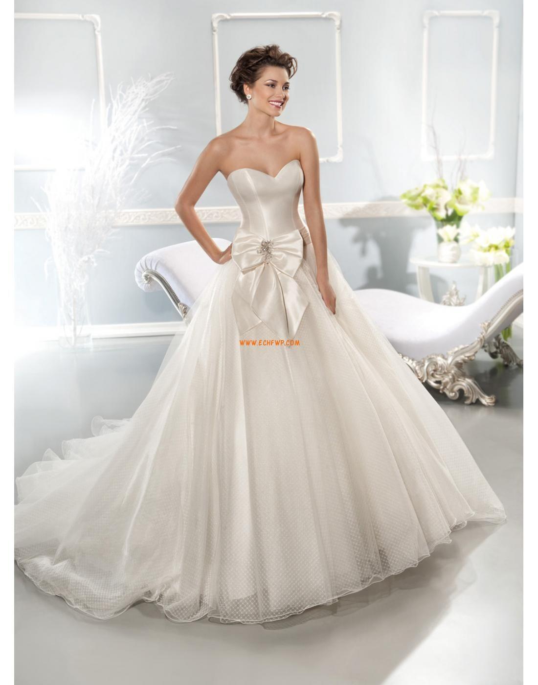 Princess Stil Chic Modern Schleife Brautkleider 2014