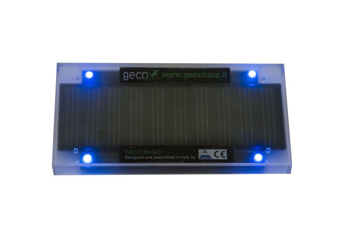 GECO, modello BASIC da incasso, LED di colore blu.