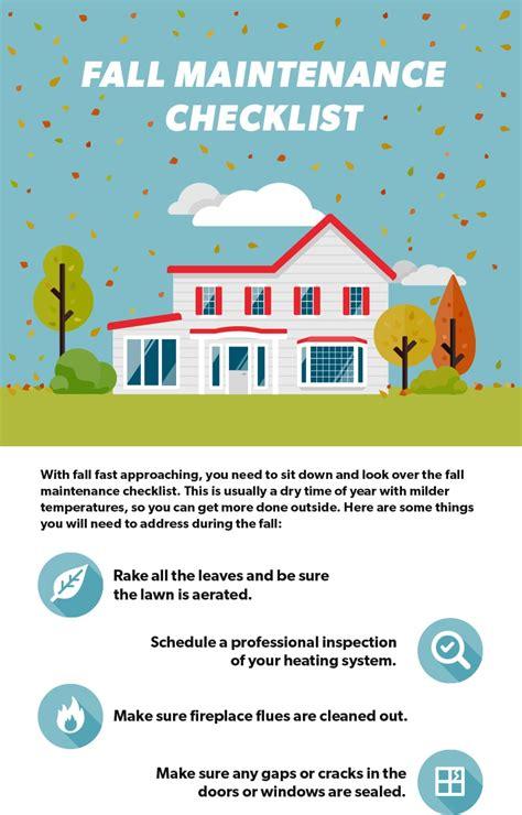 Season Home Maintenance Brochure Google Search Home Maintenance Fall Maintenance Maintenance Checklist