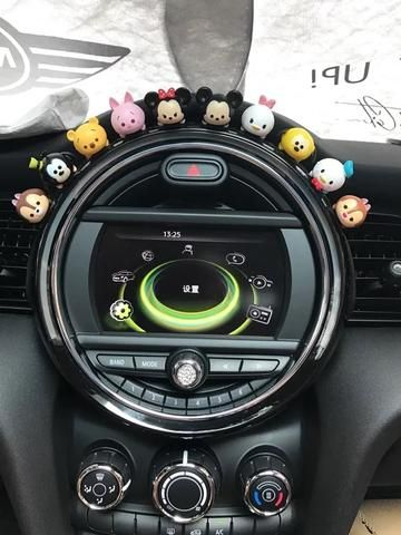 Mini Cooper Dashboard Cute Micky Minnie Silicone Small Figures Car