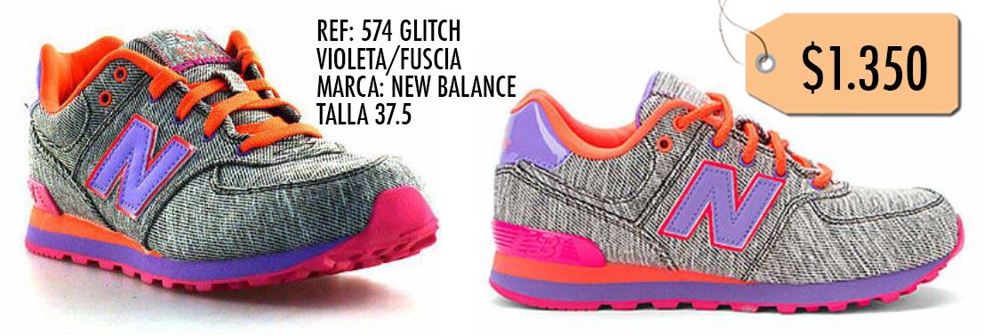 574 Balance Zapatillas New ¡ropa Referencia Glitch Violetarosa qSxntxw5p6