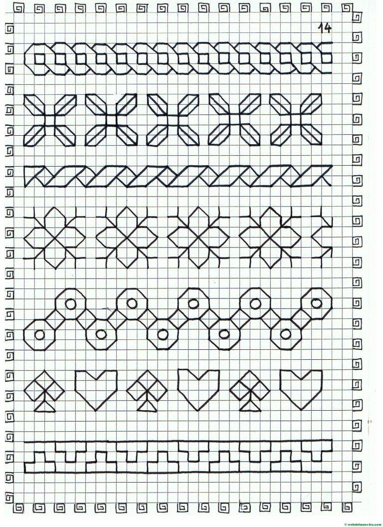 Cenefas Dibujos En Cuadricula Para Imprimir Web Del Maestro Dibujos En Cuadricula Cuadricula Para Dibujar Adornos Blackwork