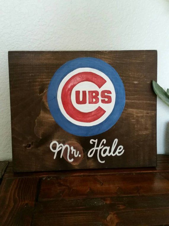 Cubs Wood Sign Chicago Cubs Cubs Wall Art Cubs World Series