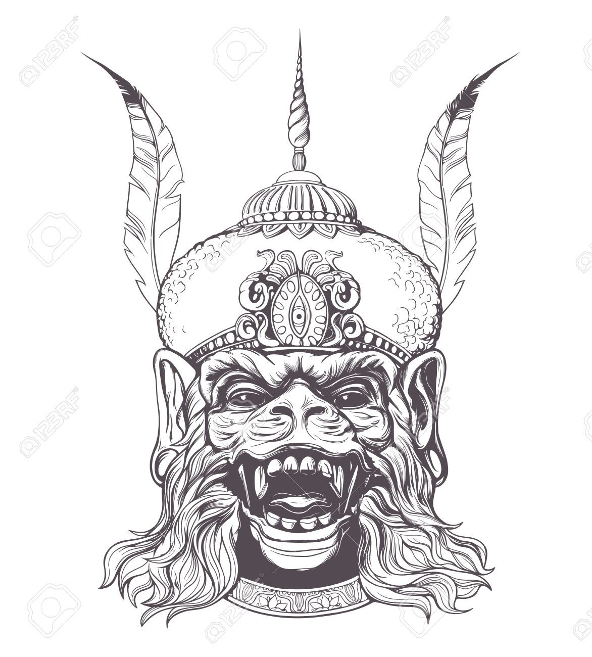 Hanuman thai drawing google search
