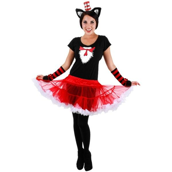 Cat In The Hat Tutu Adult Costume ($35) ❤ liked on Polyvore - dr seuss halloween costume ideas