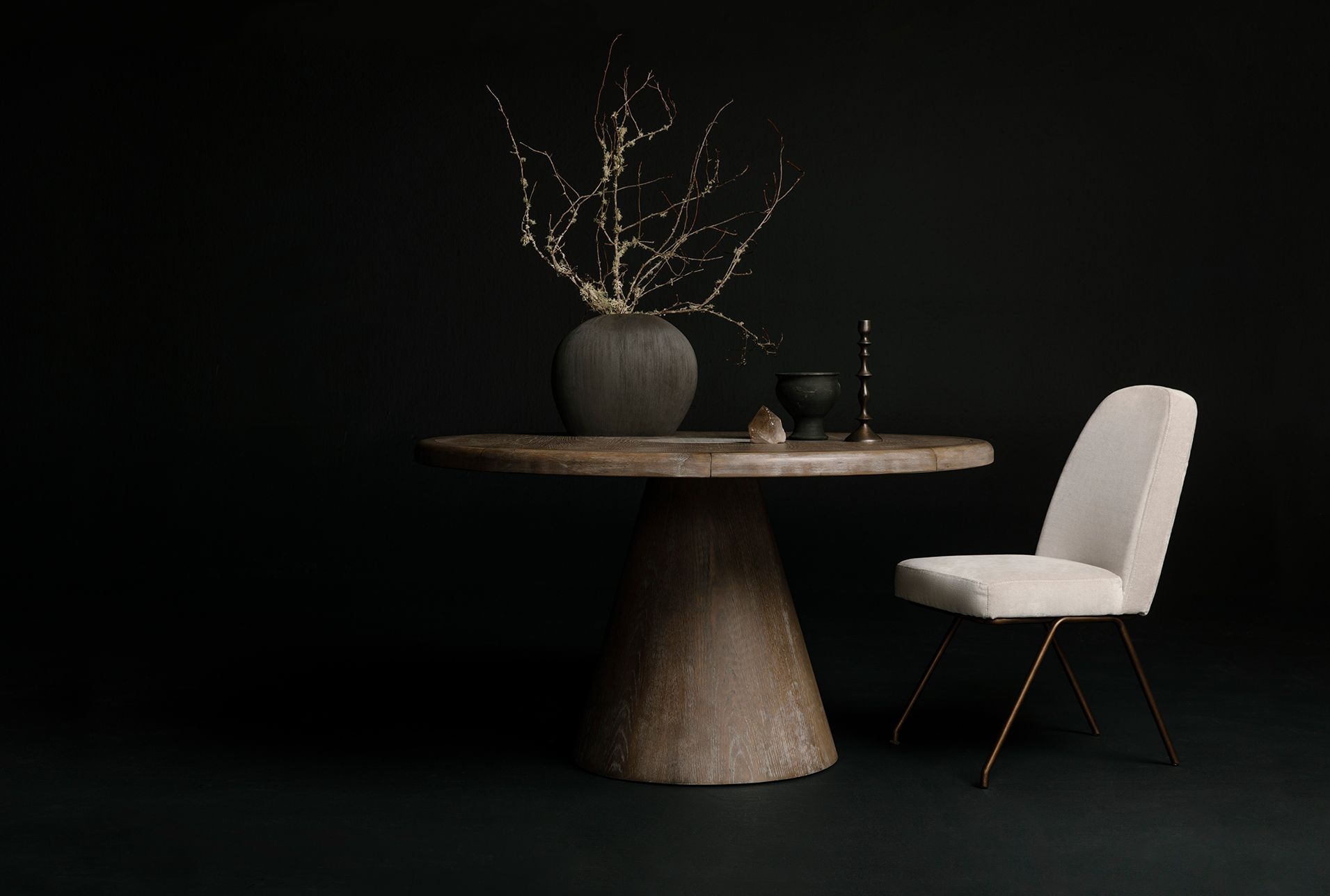 Pavilion Round Dining Table By Nate Berkus And Jeremiah Brent Round Dining Table Host Chairs Round Dining [ 1288 x 1911 Pixel ]