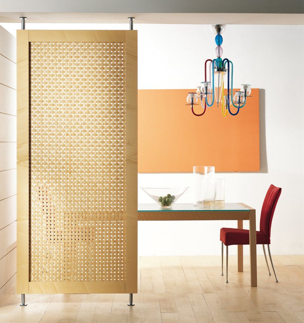 Natural room divider panel material using rattan and wood for Room divider frame crafts