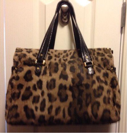 123d00ca43 KATE SPADE! Large Leopard Fur Designed Handbag!