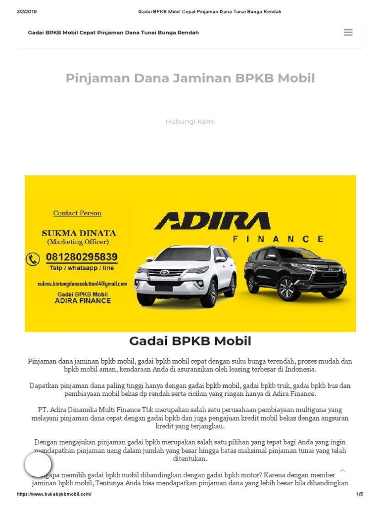 Pinjam Uang Di Pegadaian Jaminan Bpkb Motor - Tips Seputar ...