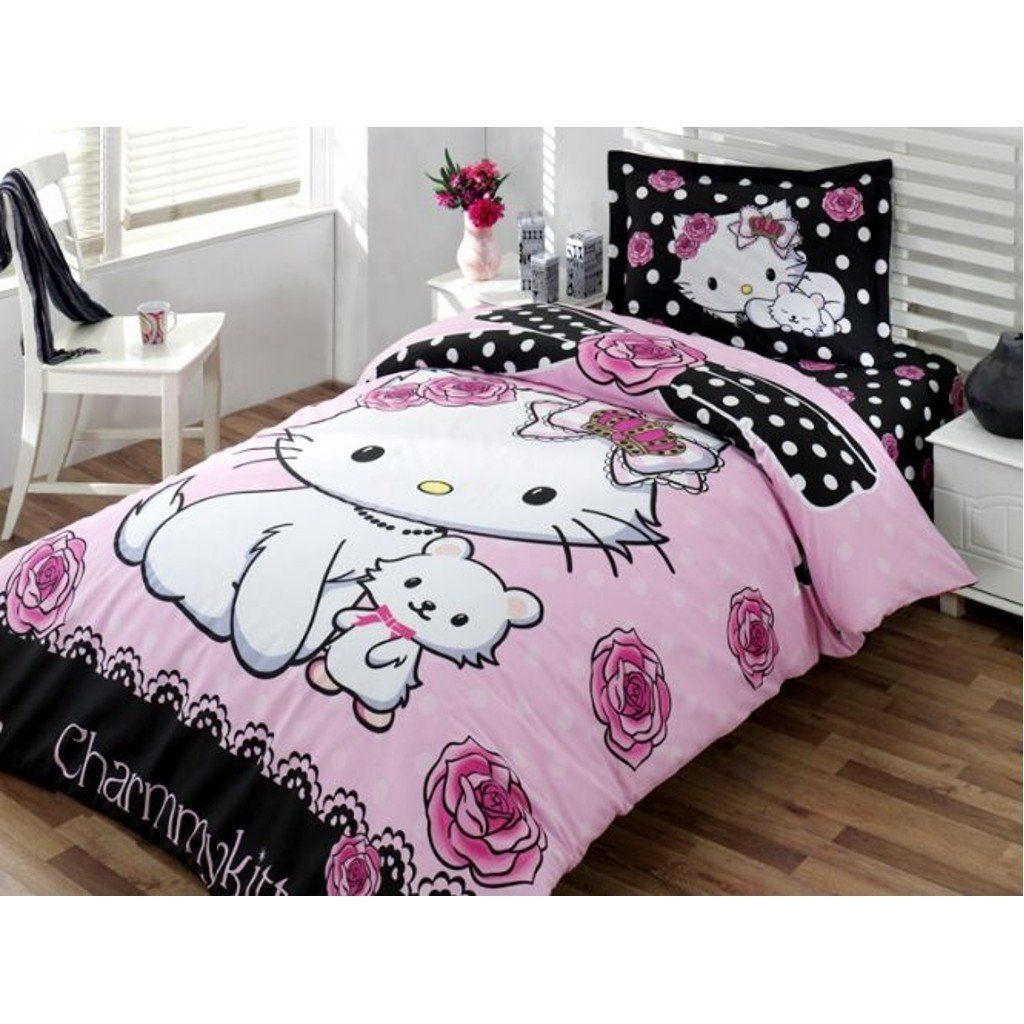 Licensed Hello Kitty Little Friend Charmy 3 Pcs Twin ...