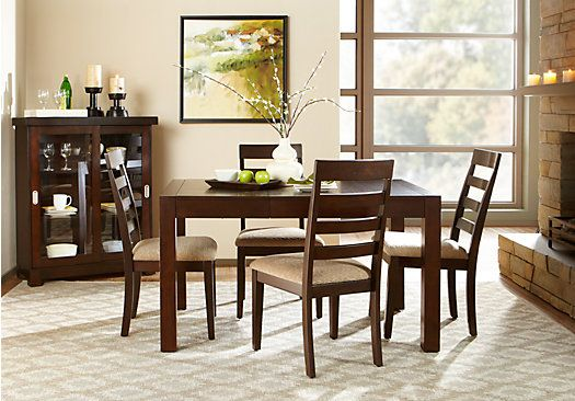 Picture Of Callahan Merlot 5 Pc Square Dining Room From Dining Extraordinary Square Dining Room Set Design Decoration