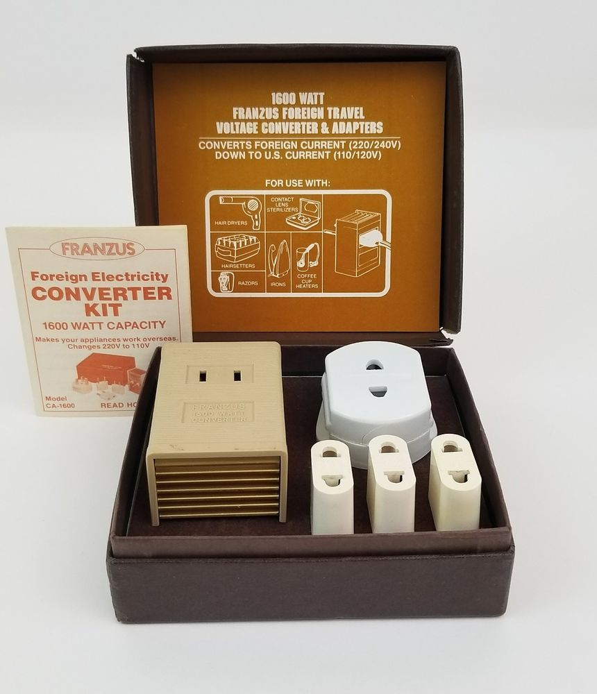 Franzus Electric Current Converter Ca 1600 Foreign Travel Voltage Adapter Vtg Franzus Foreign Travel Ebay Travel