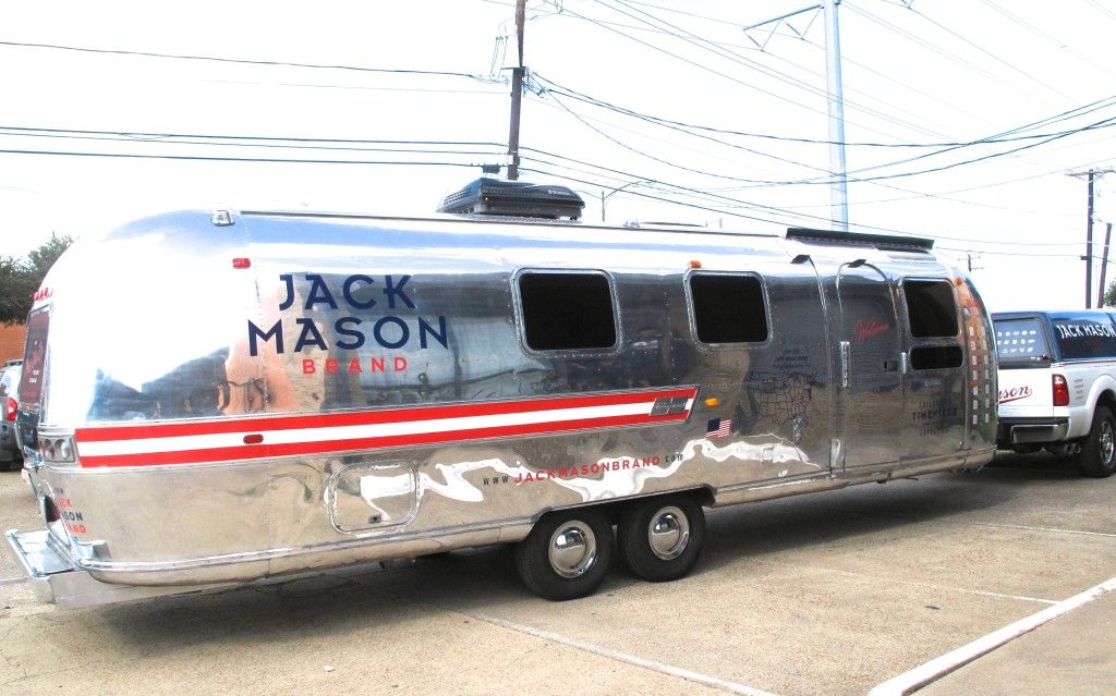 Official Jack Mason Brand Airstream Trailer - Finished Product - Airstream Remodel - Exterior Design - Airstream Style - Road Show - Travel