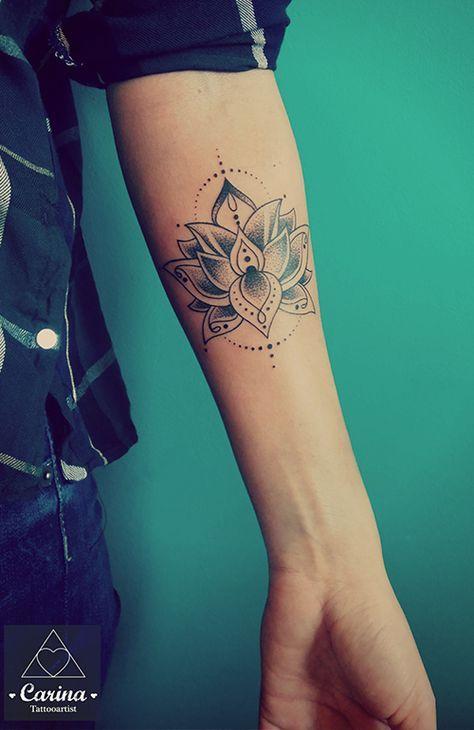 oel tinte carina tattoo 2 ink pinterest tatouage tatouage de lotus et tatouage femme. Black Bedroom Furniture Sets. Home Design Ideas