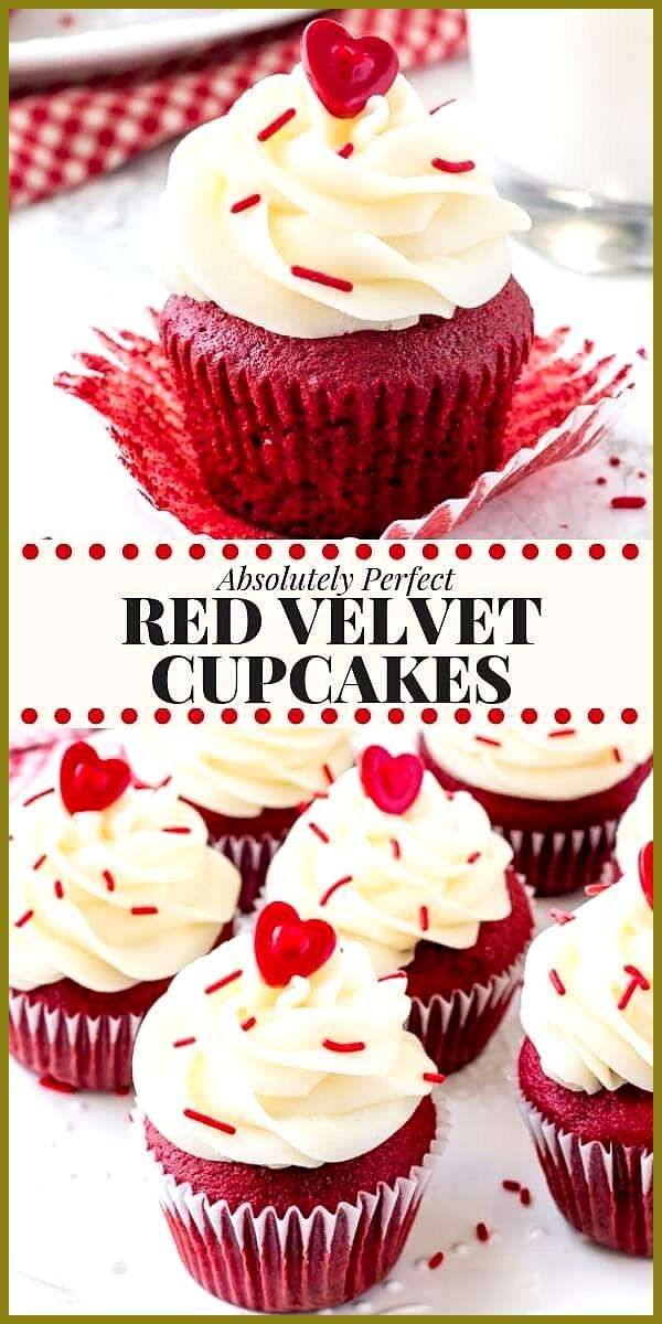 PERFECT red velvet cupcakes have a soft crumb a damp   M  PERFECT red velvet cupcakes have a soft crumb a damp   muffins hearty  sweet  Informations About PERFEKTE Cupcak...
