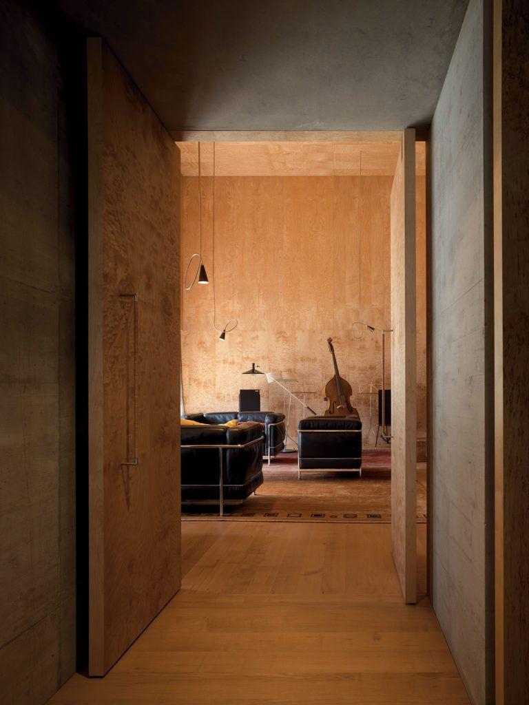 Zumthor house haldenstein 2005 gasparini nel 2019 for Architettura di interni
