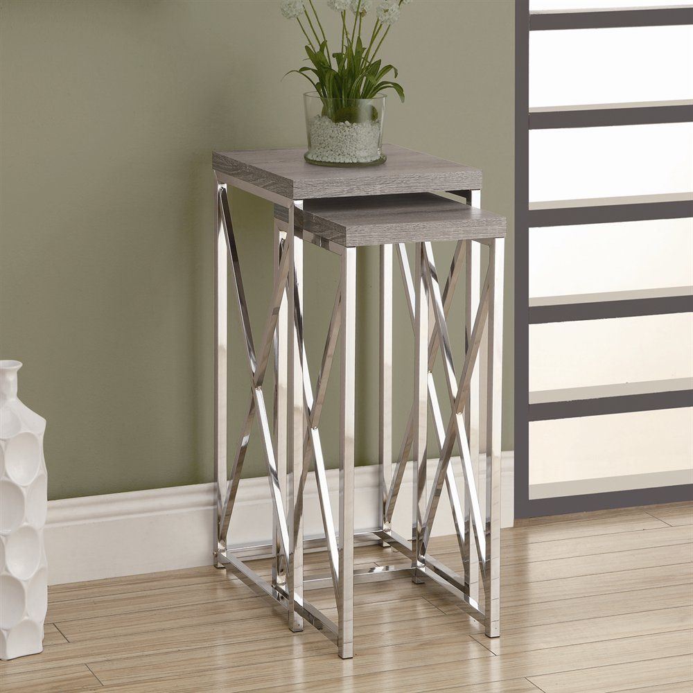 Monarch Specialties I 3 Plant Stand Nesting Table Set | Lowe\'s ...