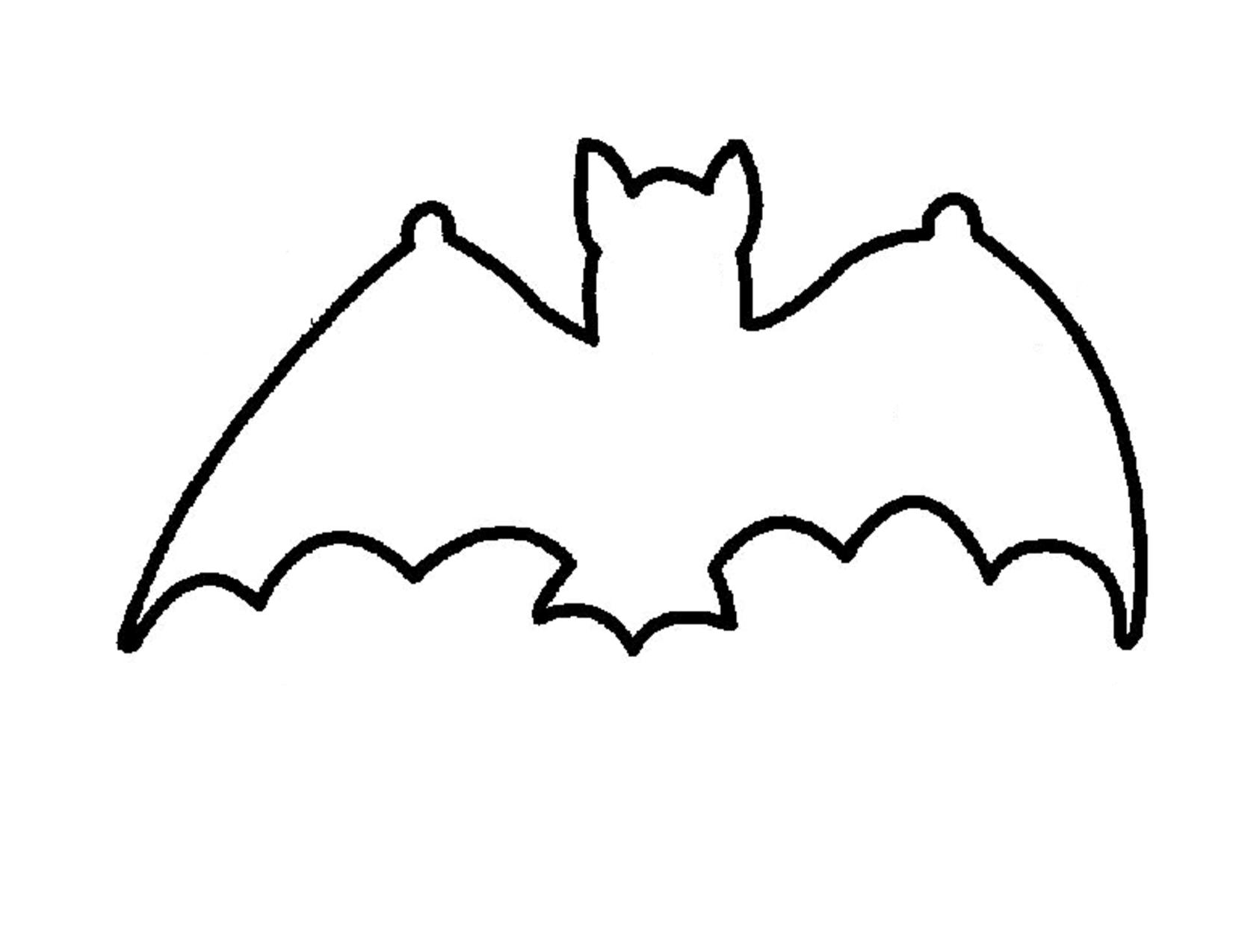 Картинки летучая мышь на хэллоуин распечатать