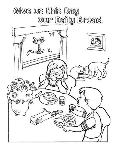 Free Lord\'s Prayer Coloring pages for children and parents ...