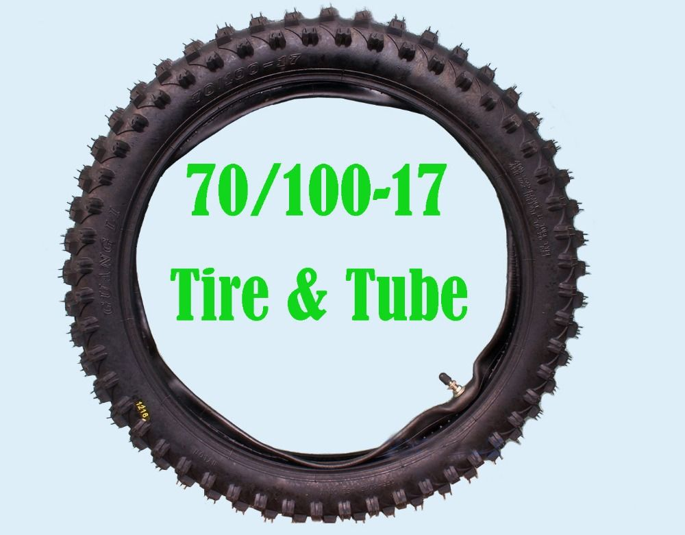 17 Inch 70 100 17 Knobby Front Tyre Tube Trail Pit Dirt Bike Tire Qql Dirt Bike Tires Motorcycle Wheels Atv Quads