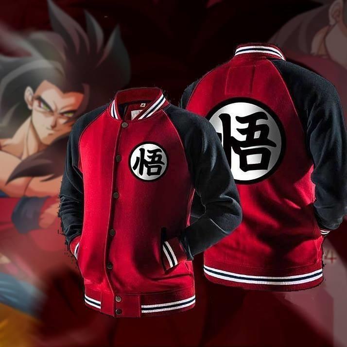 Dragon Ball Z Hoodie Goku Training Symbol Hoodie Jacket Varsity Jacket Hoodie Jacket Jackets