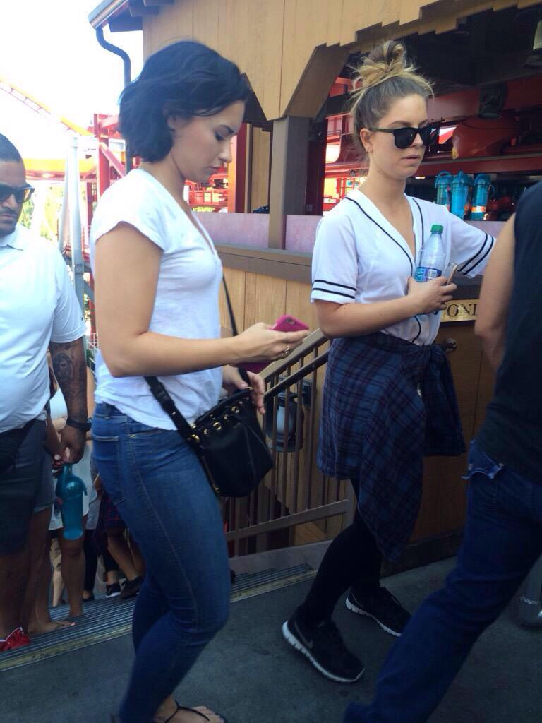 Demi celebrating her 23rd birthday at Knott's Berry Farm in Buena Park, California - August 22nd