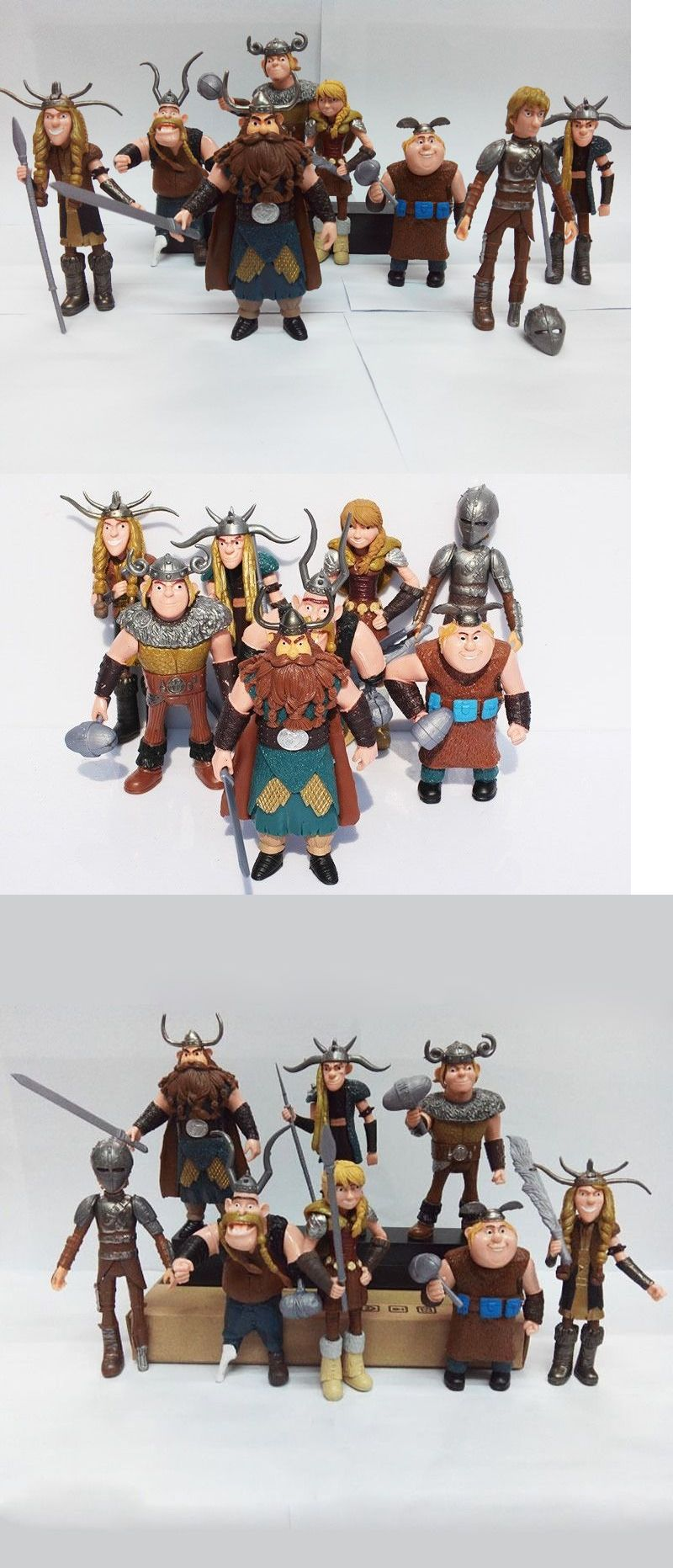How to Train Your Dragon 8x Figures Characters Set: Hiccup Astrid ...