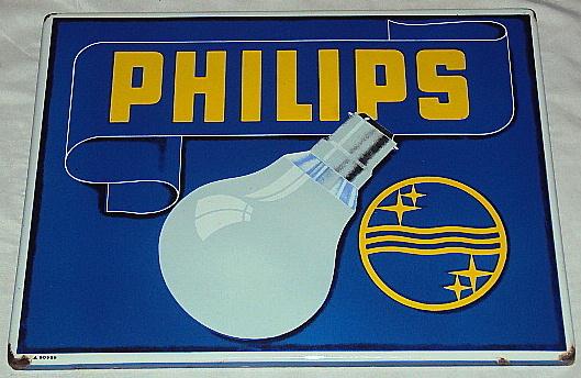Sign for Philips Light Bulbs.
