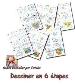 La maternelle de Laurène: Dessiner en 6 étapes | La ...