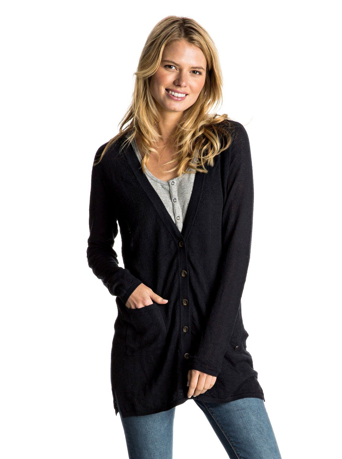 Belle Isle Button Up Sweater | Long cardigan, Roxy and Belle