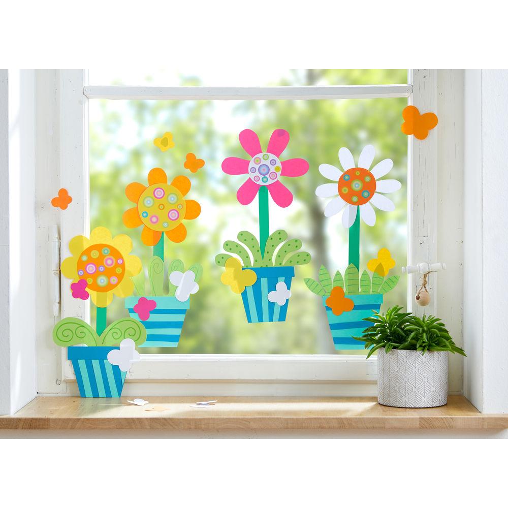 Sachenmacher Fensterbilder Topfblumen » JAKO-O