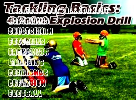 The 4 Point Explosion Drill  Football Tutorials Tackling Basics The 4 Point Explosion Drill  Football Tutorials  28day challenge for a leaner body  Tackling Basics The 4...