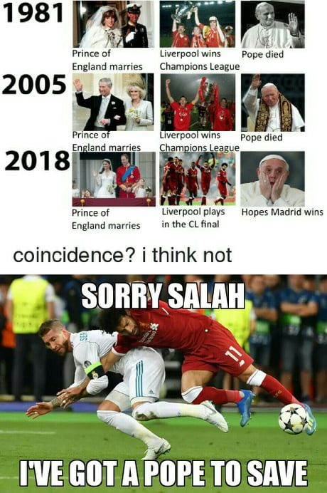 He Did It For The Pope And Yay Liverpool Lost The Cl Championship The Pope Is Saved Funny Soccer Memes Best Funny Photos Funny Football Memes
