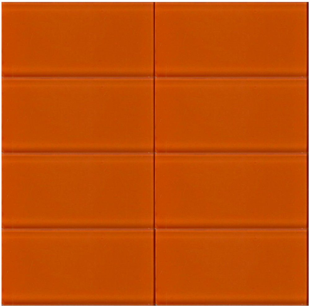 bright orange tile backsplash - photo #27