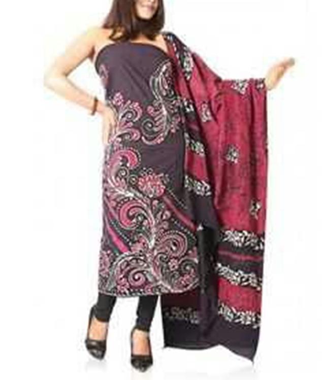 Dress Material Of Batik Handicraft Print