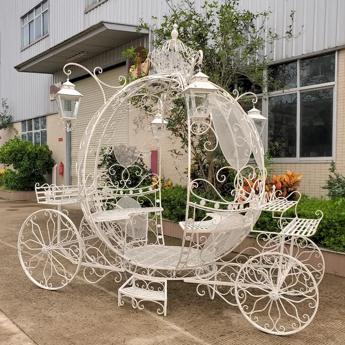 The Luciana Large Round Cinderella Carriage Cinderella Carriage Wedding Carriage Cinderella Quinceanera Themes