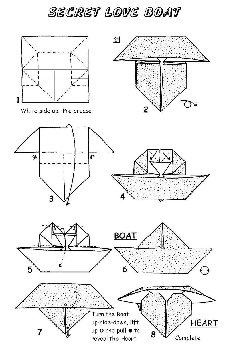 Secret Love Boat Christmas Toys Pinterest Boating Origami And Diagrams