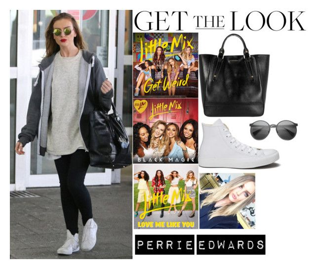 """""""Perrie Edwards Little Mix At Heathrow Airport  September 6, 2015"""" by valenlss ❤ liked on Polyvore featuring Burberry, Converse and Retrò"""