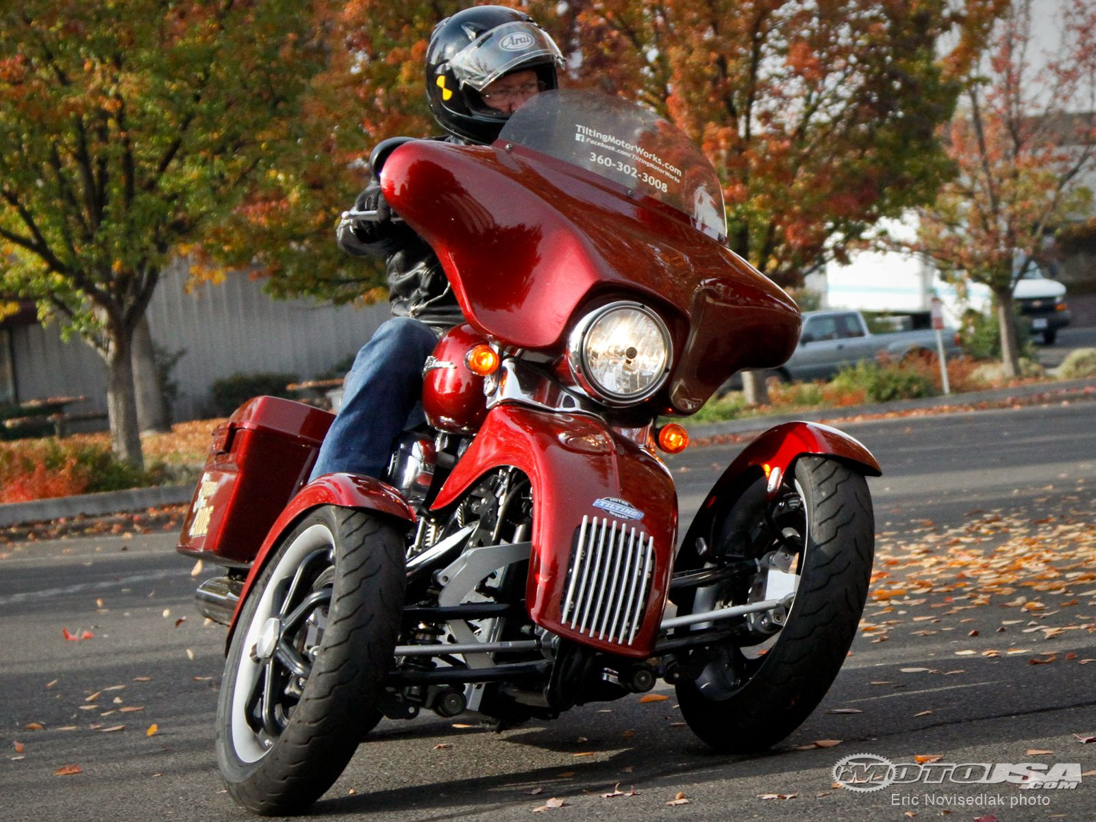 See the three-wheeled conversion kit for Harley-Davidsons in