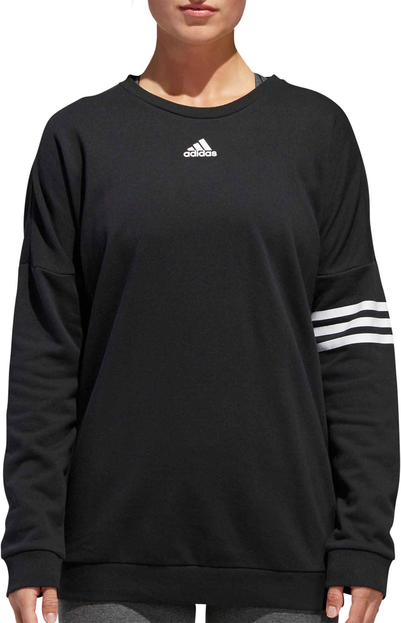 adidas Women s Athletics French Terry Crewneck Pullover ... 3a6d1ed10d