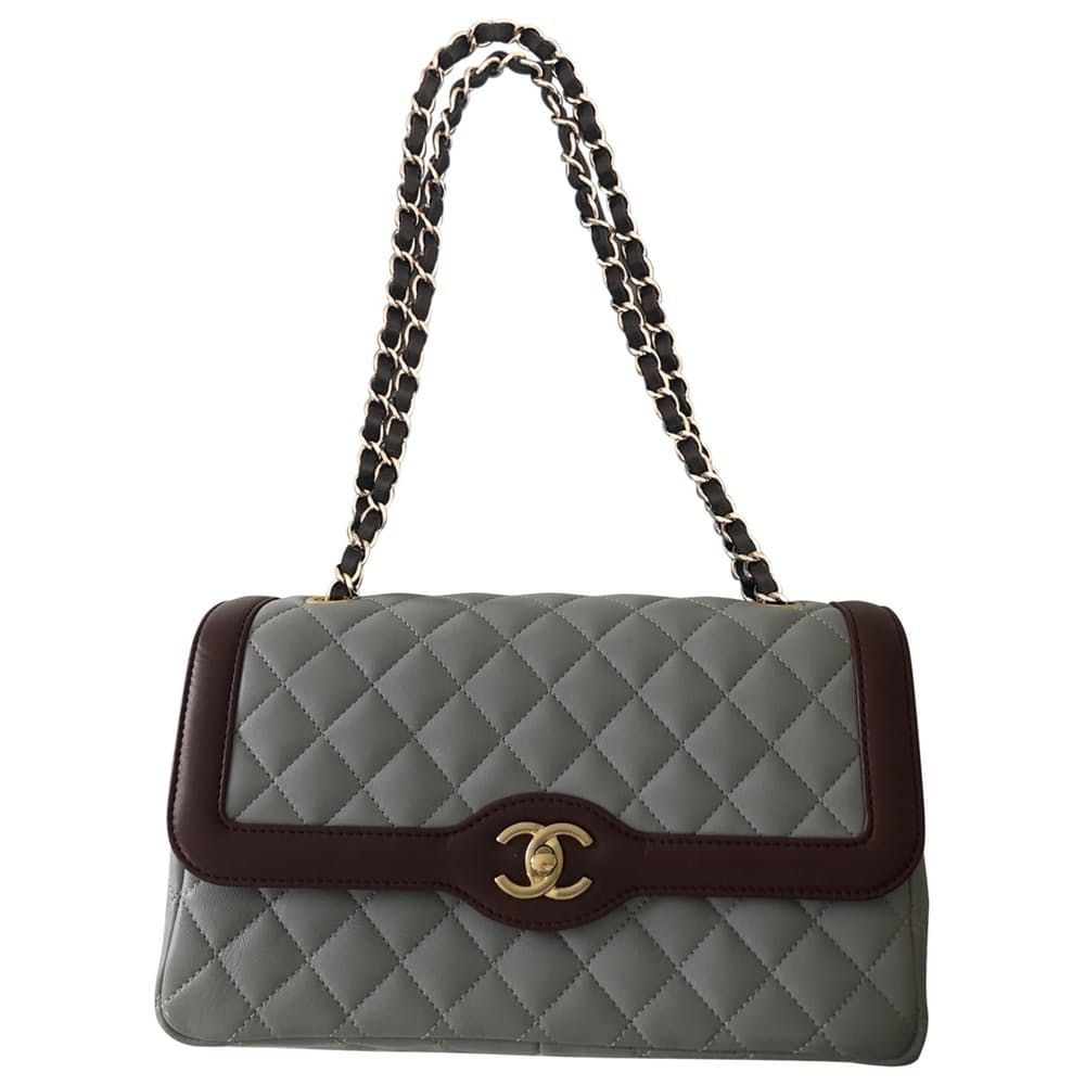 Grey Black Chanel Purse Polyvore Moodboard Filler Chanel Handbags Black Chanel Purse